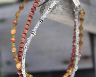 Three Strand Stone Bracelet