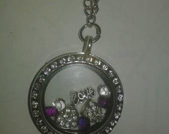 Owl Love Locket Necklace