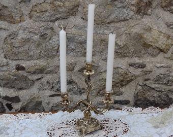 Louis XV bronze candlestick / candlestick