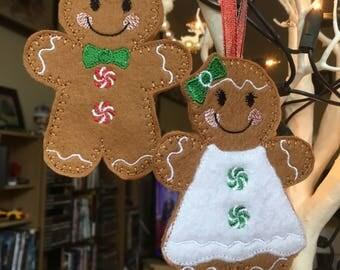 Felt Gingerbread People (single)