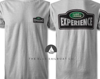 Land Rover Experience Logo T Shirt, Classic, Novelty T-Shirt, Cars, Novelty Gift, Defender T-Shirt, Land Rover T-Shirt Adults