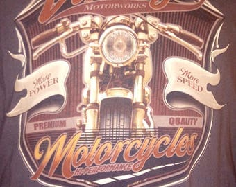 Vintage MOTORWORKS MOTORCYCLES PERFORMANCE Extra Large T-Shirt
