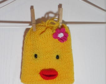 """Baby Beanie Hat Featuring """"Darby"""" the Duck"""