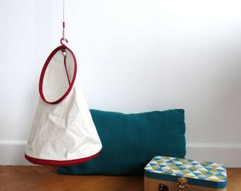 Children hanging storage - small size - Red