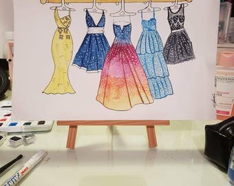 watercolor social media dresses