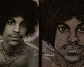 Time Photo and Prince Drawing