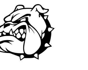 Bulldog Side View SVG cutting file