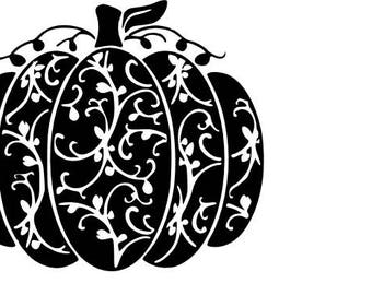 Scroll pumpkin SVG cutting file