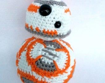 BB-8, Star Wars BB8 Droid, Star Wors Droid, Crochet BB-8, BB-8 Toy, BB8 Droid, Star Wars Gift