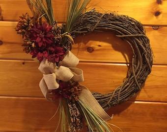Harvest Grapevine Wreath