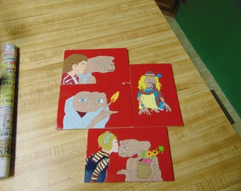 ET Movie E.T. the Extraterrestrial Coasters Cartoon E.T. the Extra Terrestrial Cartoon Coasters 80's Movies
