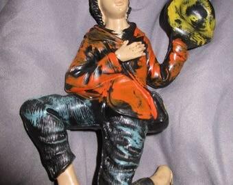 Vintage Montecatini Peasant Boy Nativity Lg Figurine Hand Painted