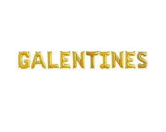 Galentines Gold Balloons,Galentines Gold Letter Balloons,Galentines Letter Balloons,Galentines Balloons,Galentines Day,Galentines Decor