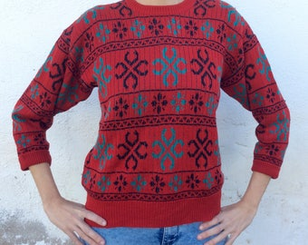 Vintage ugly Christmas sweater 80s