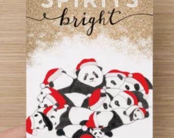 Pandamonius Christmas Card