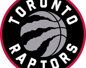 Toronto Raptors Color Printed Vinyl Sticker 4x4inches