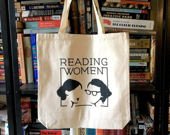 Reading Women Canvas Tote Bag