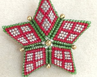 Christmas Stained Glass Star