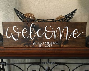 Welcome Lakehouse Sign - Large