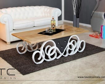 The QUEEN coffee table- white - living room table- Design Made in Italy