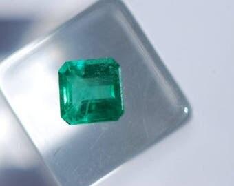 Emerald, Faceted Beryl, Beautiful, Natural Green, Untreated, Emerald Cut Rectangle, 5.1 x 5.0 mm, 0.65ct, F1999AM