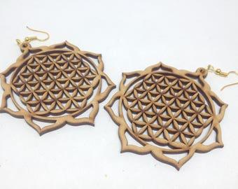 1 pair wooden earring - 62mm - 1pair- sewing, wooden earring, apparels   - HA-01