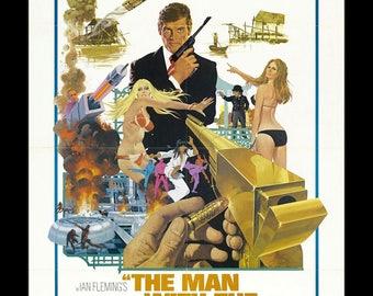 James Bond The Man With the Golden Gun - 11x17 Framed Movie Poster