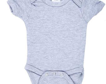 Design Your Own Pick-a-Patch Gray Onsie