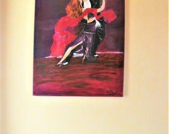 Argentine Tango dance oil painting