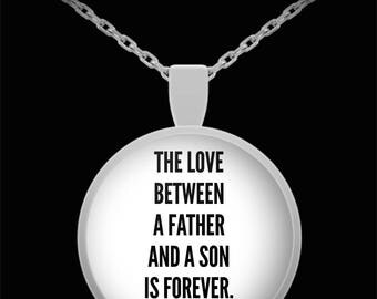TO MY SON! Amazing Silver Plated Necklace