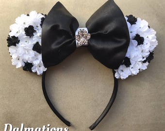 Dalmation Ears, 101 Dalmations, Disney, Minnie Ears,