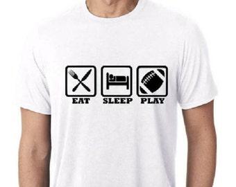 Football Shirt / Eat Sleep Football / Men's Shirt /  Football / Eat Sleep Play / Sports Shirts / Men's Tank Tops / Football Gifts