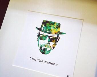 Breaking Bad Heisenberg Personalised Art Print, Personalised Digital Print, Wall Art, Poster Decor, Breaking Bad Art, Breaking Bad Gift