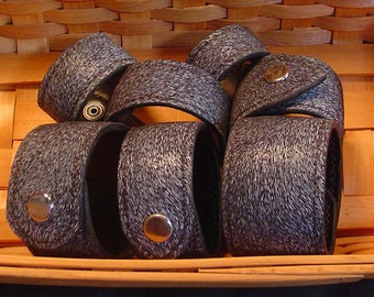 Javelina Leather Bracelets/Wristbands | Handmade | Handstitched | Jewelry | Valentine's Day | Birthday Gift | Custom