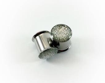 Silver Metallic Glitter Plugs