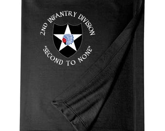 2nd Infantry Division Embroidered Blanket-3983
