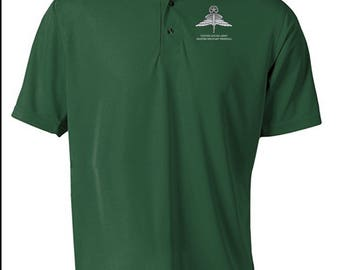 US Army Master HALO Embroidered Moisture Wick Polo Shirt -7744
