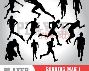 Running Men SVG, Running Sport svg, Runner digital clipart, athlete silhouette, Running Men, cut file, design, A-046