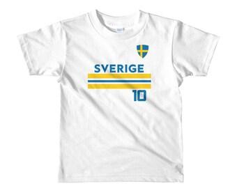 Sweden Kids World Cup Shirt Boys Girls