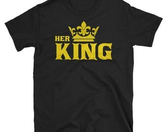 KING and QUEEN Matching Couple Set Valentine's Day His & Hers T-Shirt