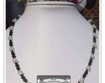 Chic Moonstone Onyx spinel Necklace
