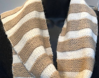 Paco-Vicuna Suri Hand-Knitted Striped Scarf