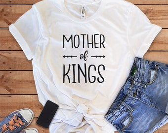 Mother of Kings, Funny Mom Shirt, Mother T-shirt, Gift for her, Mom Shirt, Mom of boys shirt, Mom of Kings, woman t-shirt, HappyTeeBoutique