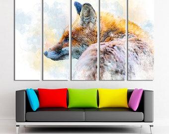 Fox art, Fox canvas, Fox wall art, Fox home decor, Fox photo, Fox print, Fox decor, Fox canvas art, Large canvas, Canvas, Canvas art, Decor