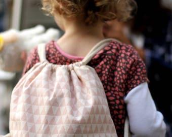 """Children Turnbeutel """"Harlequin"""" Pink"""