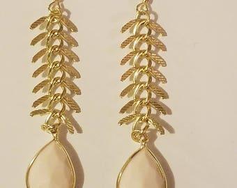 Ivory/gold earrings