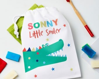 Personalised Crocodile Wash Bag