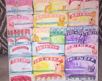 Smirnoff Display Watercolor Painting
