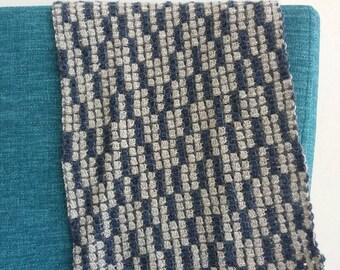 Crochet pattern Blocked scarf