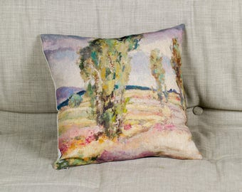 "Printed painting on Pillow - Trip, 16"" / 40  cm size - Limited Edition of 100"
